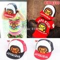 Розничная 2014 мода мультфильм обезьяна дети сетки бейсболка мальчиков девочки Snapback хип-хоп брим шляпы бесплатная доставка