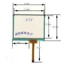 Envío gratis 3.5 pulgadas hilos con pantalla táctil resistiva panel para tm035kdh03, lq035nc111, tamaño : 77 * 64 mm