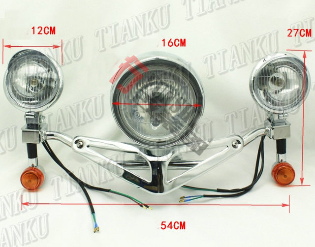 Metal headlight turn light bar fog spot light for yamaha vstar 400 metal headlight turn light bar fog spot light for yamaha vstar 400 650 1100 1300 aloadofball