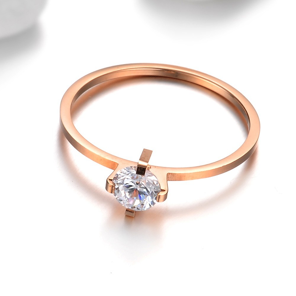 set rose gold wedding diamond moissanite carat engagement ring solitaire band matching round pave thin bands