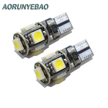 20pcs/lot T10 5 smd 5050 led Canbus Error Free Car Lights W5W 194 5SMD LIGHT BULBS NO OBC ERROR White 20pcs white auto wedge t10 smd canbus 5smd 5 smd t10 led canbus car led t10 canbus w5w 194 error free automotive light bulb lamp