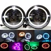 1 Set Black Projector Headlight 7 Inch Auto Headlamp With Halo Ring For Jeep Wrangler Unlimited