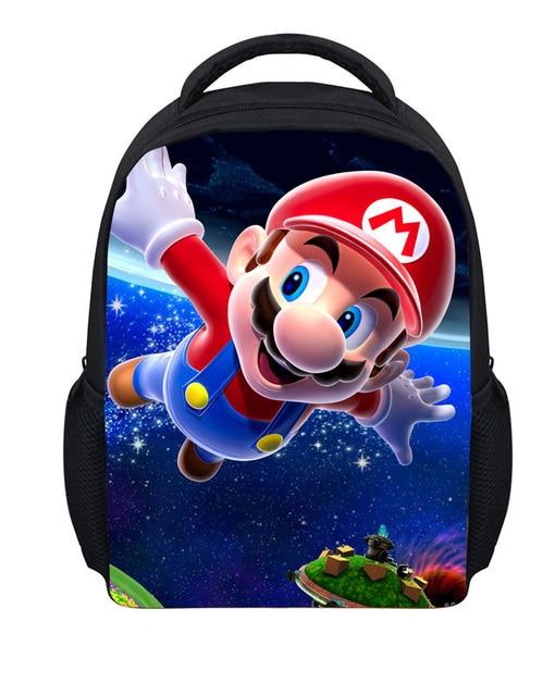 12 '' Small Children School Bags Super Mario Shoulder Bags For Boys Fashion Cartoon Kindergarten Girl Avengers Schoolbag Mochila