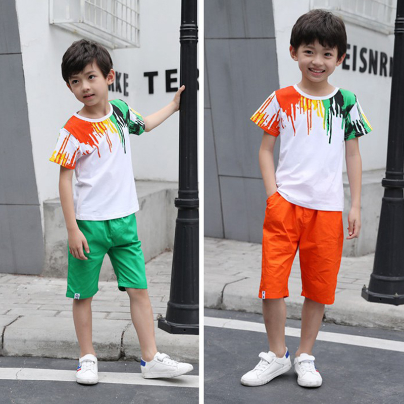 2019  Kids/' Boys Girls Sports Short-sleeved T-shirt 4 Color  2-13Y