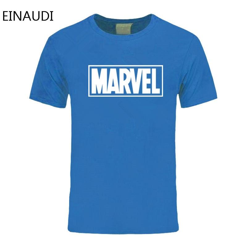 Einaudi New Fashion Marvel T-shirt Men Cotton Short Sleeves Casual Male Tshirt Marvel T Shirts Men Tops Tees Free Shipping #4
