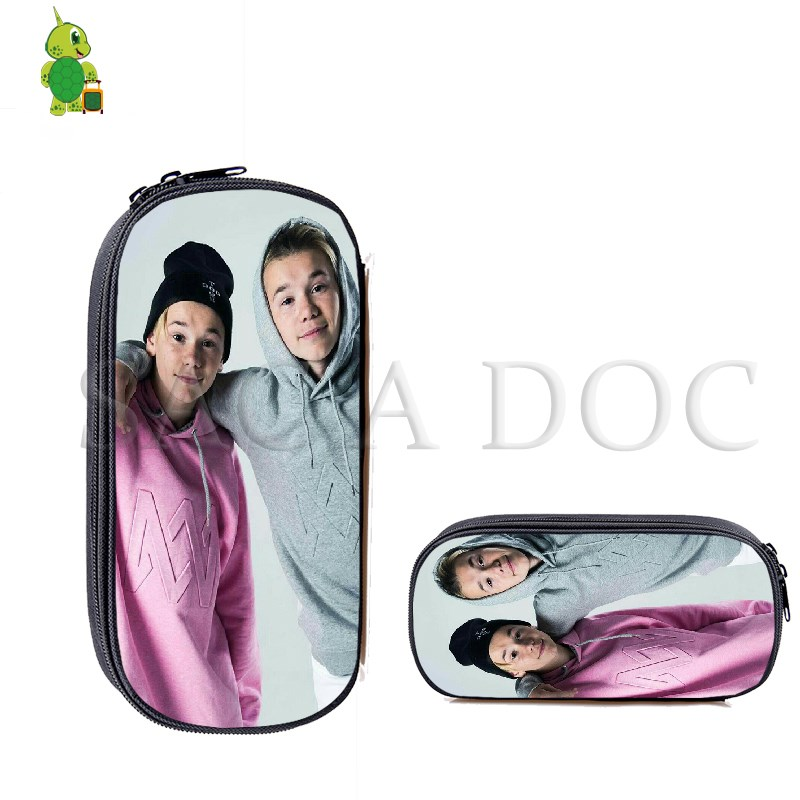Marcus and Martinus Pencil Bags Cosmetic Cases Kids School Supplies Stationery Storage Bag Boys Girls Makeup BagMarcus and Martinus Pencil Bags Cosmetic Cases Kids School Supplies Stationery Storage Bag Boys Girls Makeup Bag