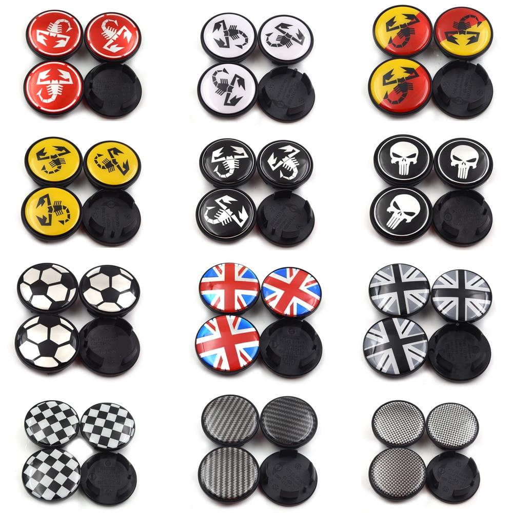 Gzhengtong 4pc 54mm 12 Different Logo Wheel Center Caps