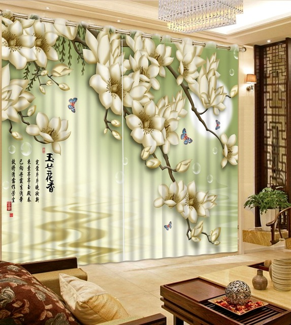 Modern Curtains For Living Room The Surface Of Magnolia Moon High Ceiling European Luxury Chenille