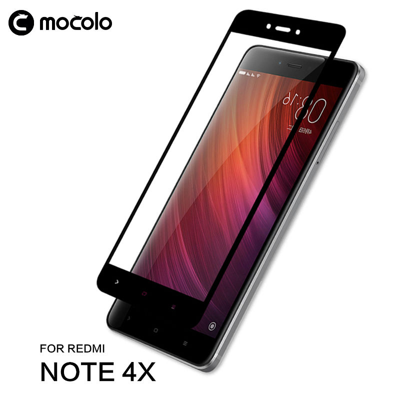 Mocolo Full Cover Redmi Note 4X ապակե պաշտպան Xiaomi Redmi Note- ի համար