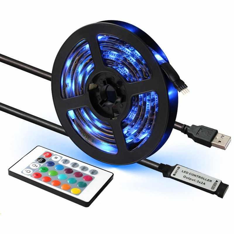 USB Mini 3key taśmy LED DC 5V elastyczne światło 60 diod LED 50CM 1M 2M 3M 4M 5M SMD 2835 dekoracja na biurko ekran oświetlenie tła do tv