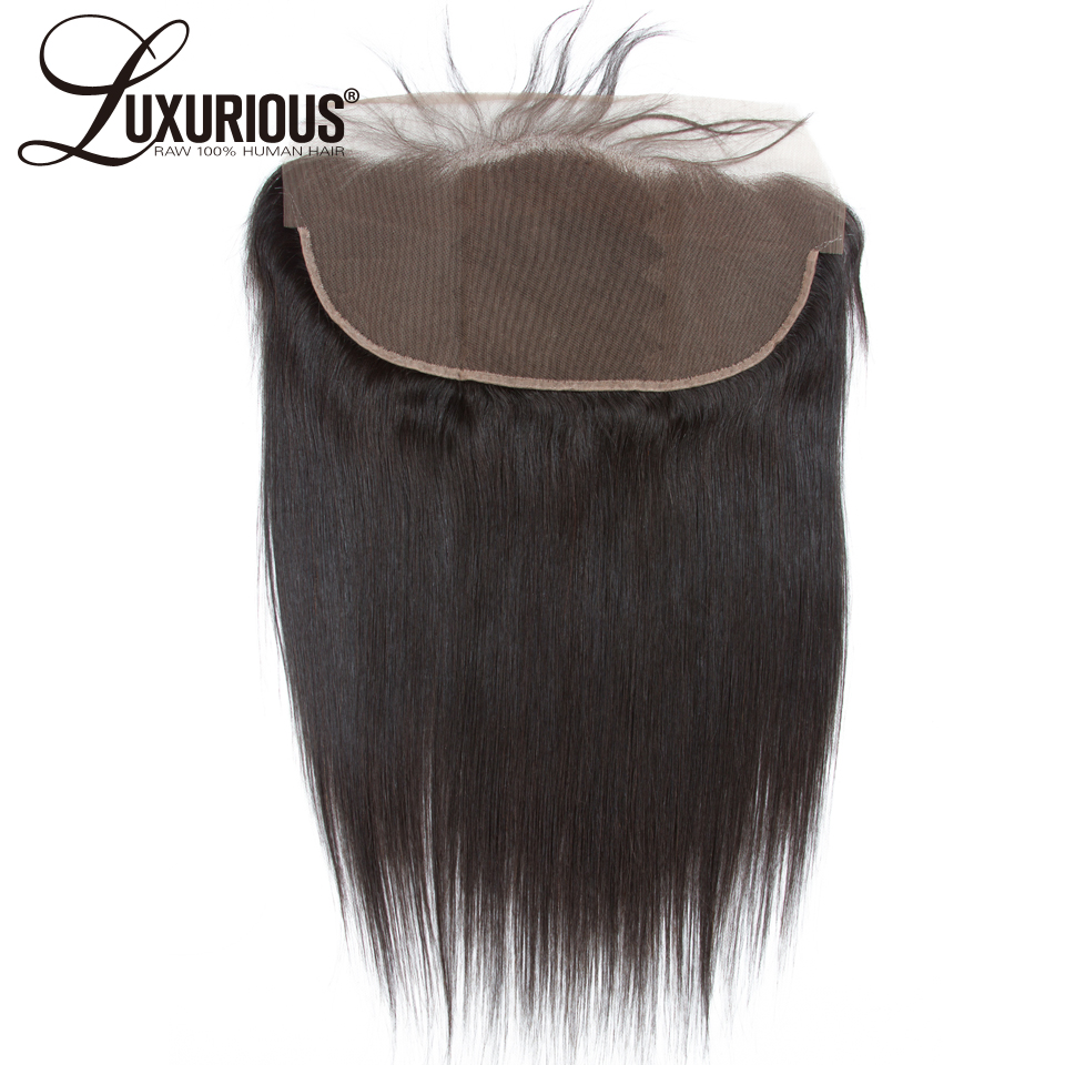 Luxurious Straight Brazilian Remy Hair 13X4 Ear to Ear Lace Frontal Closure With Baby Hair Pre