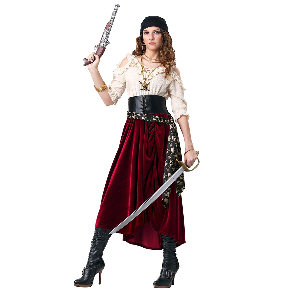 Classique jeu de rôle Pirate Cosplay Costume femme Halloween Sexy guerrier Costumes adultes femmes carnaval fête déguisements tenue
