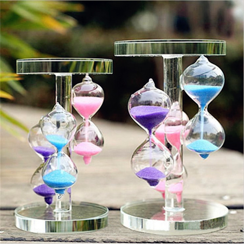 3 Color Fashion Crystal Glass Love Gifts Timer Sand Countdown Clock Xmas Birthday Home Wedding Decor-in Hourglasses from Home & Garden on Aliexpress.com ...