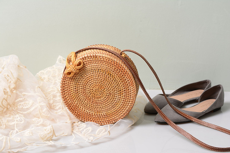 18 Round Straw Bags Women Summer Rattan Bag Handmade Woven Beach Cross Body Bag Circle Bohemia Handbag Bali 24