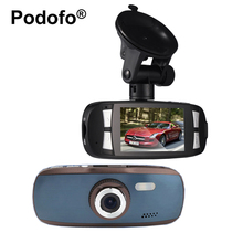 Cheapest prices Podofo Original Novatek 96650 Car DVR Camera 2.7″ LCD Video Recorder GS108 with WDR Blackbox 1080P 30FPS G-Sensor Dash Cam G1W