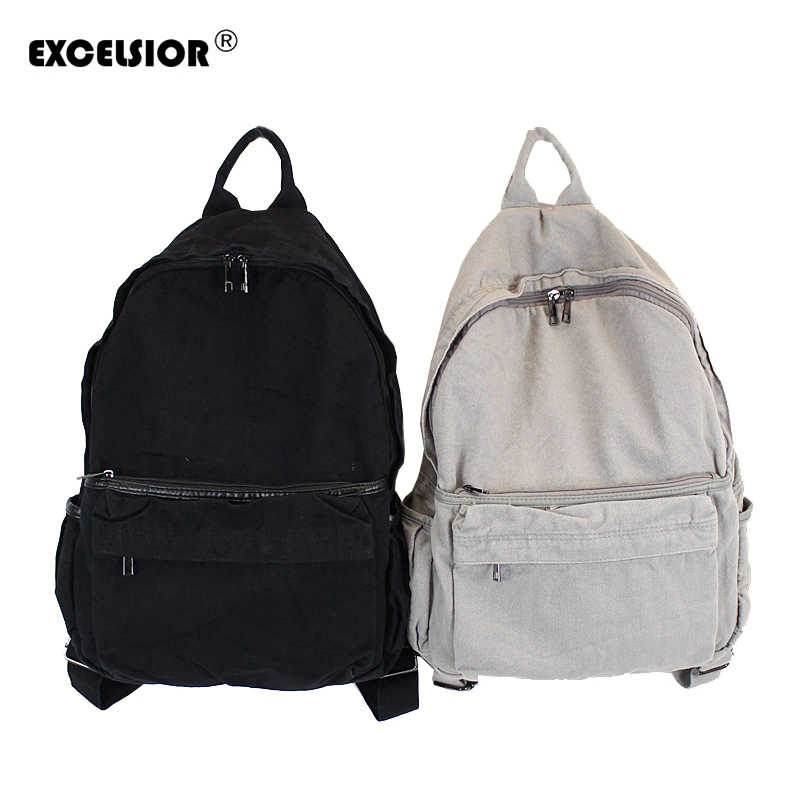 EXCELSIOR 2019 New High Quality Canvas Female Backpack School Bags For  Teenagers Girls Casual Trave Backpack 7a7aa47fb6ecf