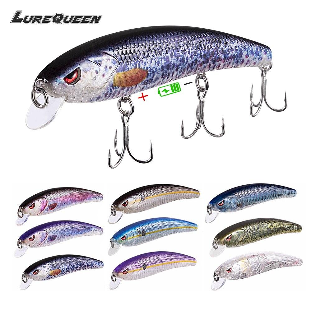 Señuelos de Pesca USB recargables con señuelo patentado inteligente de día y noche de modo Dual, señuelo de pesca Wobblers Minnow atrae a Bass Isca