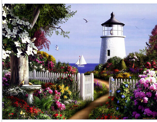 3D DIY Diamond Painting Kit Resin Lighthouse Garden Home Decor DIY Cross  Stitch Diamond Mosaic Full Embroidery Square Rhinestone In Diamond Painting  Cross ...