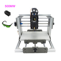 DIY Mini CNC 2417 + 500mw Laser CNC Engraving Machine PCB Milling Machine for Woodworking