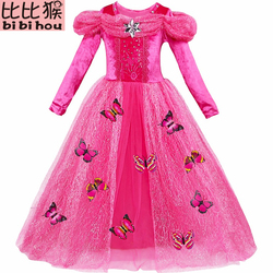 GIRLS Elsa Princess Cinderella dress Baby 3D-butterfly Costume kids clothes Costume Fancy Dress Cosplay Costume children clothes
