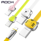 ROCK Zinc Alloy Mascot USB Cable for iPhone X 8 7 Plus 6 6s 5s,Tiger/Dog/Dragon/Monkey/Pig cable for IOS phone charger