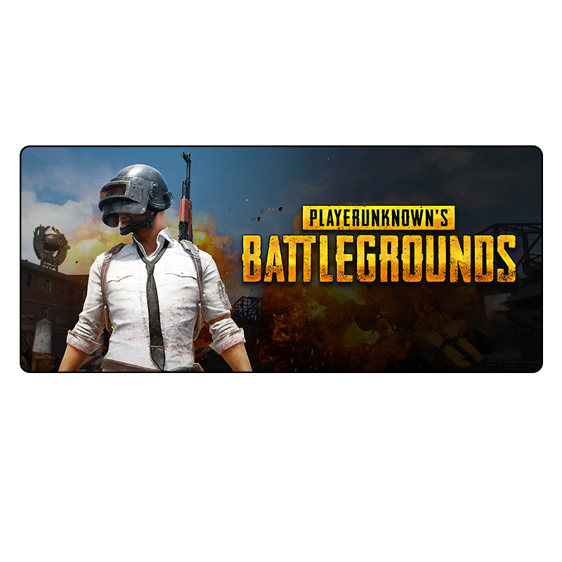 PUBG game large size mouse pad laptop gaming mousepad mouse pads L XL for Player unknown's Battlegrounds game gamer hot pc game player unknown s battlegrounds backpacks school bags pubg backpack gift for boyfriend game fans daily use nb197