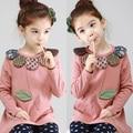 Spring 2017 Korean version of the new baby girls dress shirt petals long sleeved T-shirt tx-2336