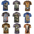 Free shipping 2017 HOT New Men's Fashion 3D Animal Creative T-Shirt, Elephants/Tiger/Wolves 3d printed short sleeve T- Shirt