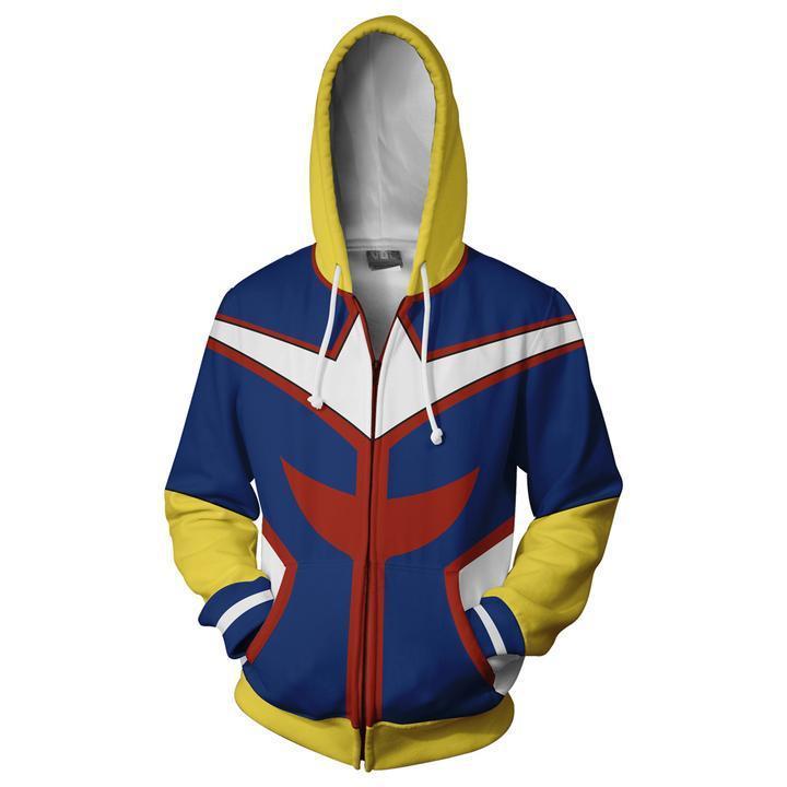 2018 Autumn Winter 3D Print Hero Academy Men Sweatshirts Hoodies Cosplay Casual Zipper hooded Jacket clothing