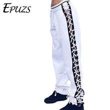 Black white side button lace up pants women high waist loose harem