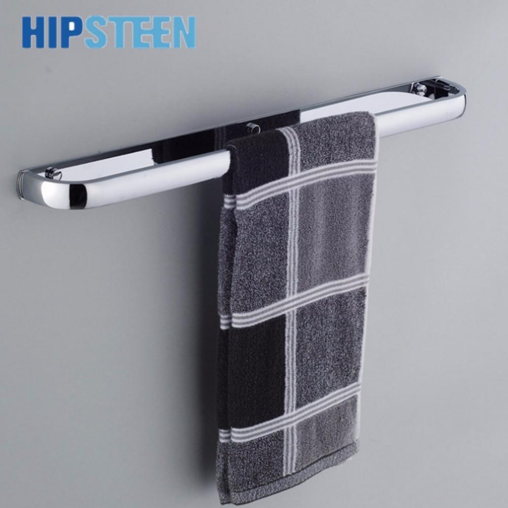 Hipsteen Bathroom Wall Mounted Stainless Steel Towel Rack Washcloth Hanger Holder Silver In