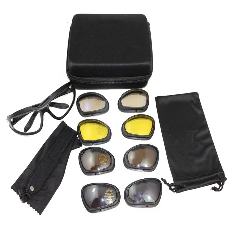 C5 Óculos de Proteção Tático Militar Do Exército 4 Lente UV Óculos de  Esportes Ao Ar Livre Caça Caminhadas Óculos Óculos dos homens Óculos de  Jogo de Guerra 66907ac3c8