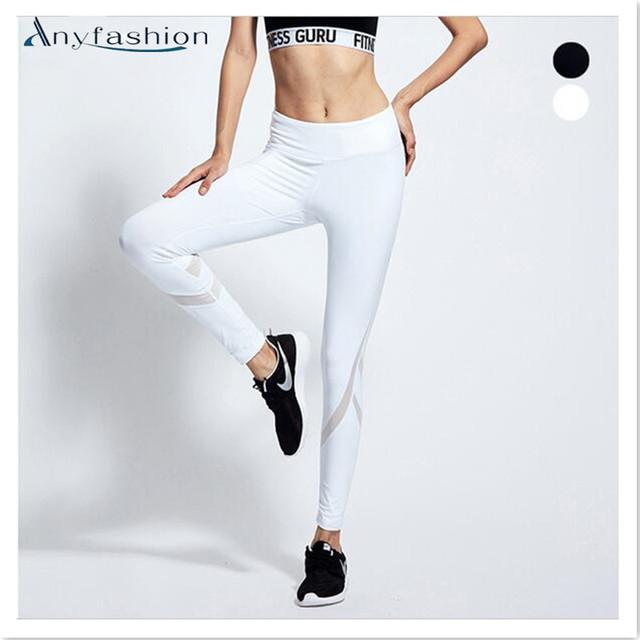 2017 Mulheres Sensuais Calças Leggings Roupas de Treino de Fitness para As Mulheres Leggings Esportivos Corre Musculação Sportswear Capris Calças