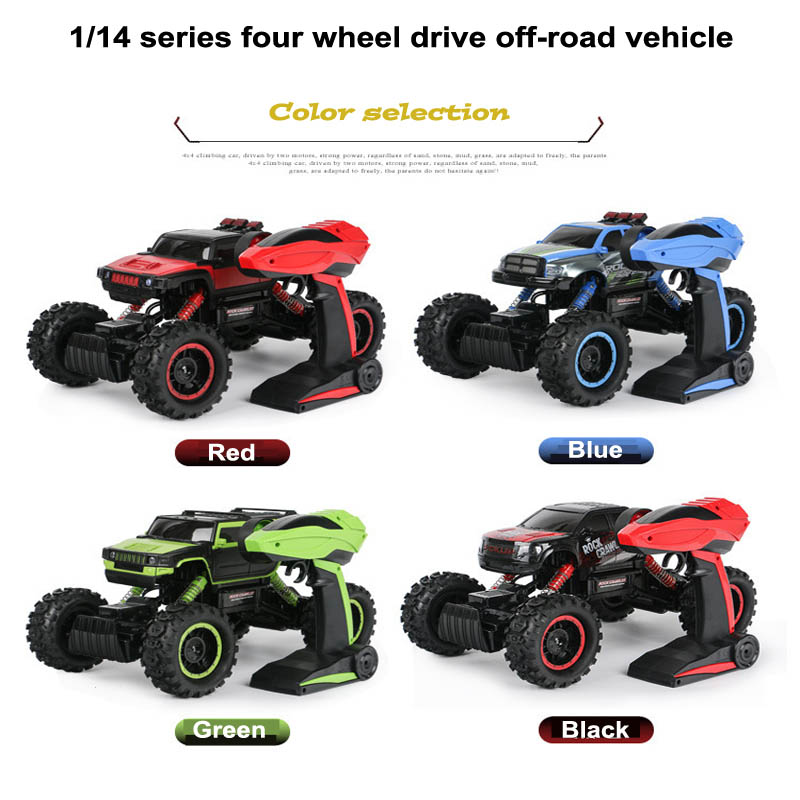 1:14 Remote Mountain Climbing Off-road Vehicles 2.4G 4WD Electric Charging Children Remote Control Toy Car Model RC12(5) 4 colors multifunctional natural sisal cat climbing toy and scratching frame more climbing types plush pet toy