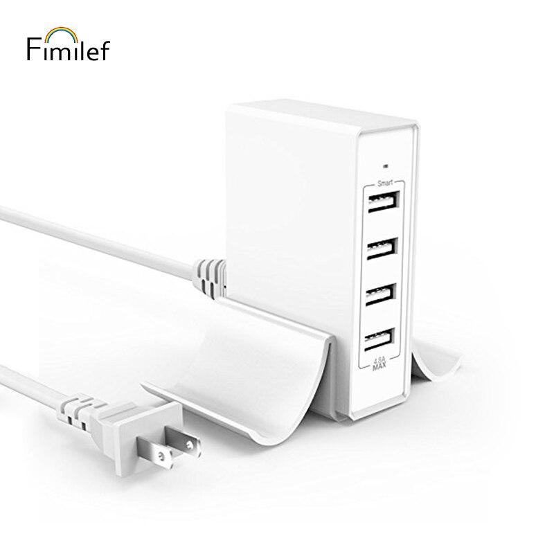 Fimilef Desktop 4 Ports USB Charger Foldable Travel Wall