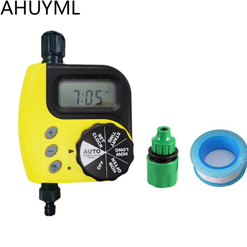 Garden Watering Time Ball Valve Automatic Electronic Water Timer Home Garden Irrigation Timer Controller System Water Connection