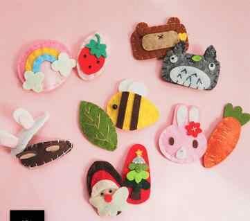 FinishedCute животные фрукты ткань фетр ткань игрушки ручной работы без аксессуаров милый ремесло для броши брелок телефон разъем
