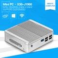 Barato pc computador celeron j1900 quad core mini pc com windows 10 com 4g ram 64g ssd hdmi vga usb3.0 vensmile