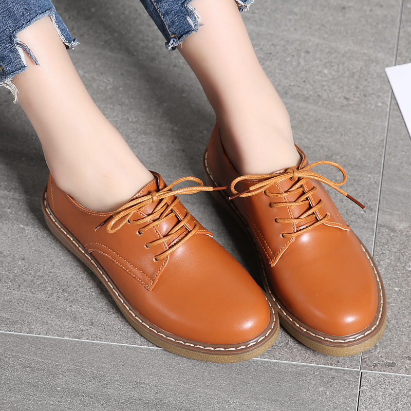 JZZDDOWN Women Oxford Shoes Warming Fur Women's Genuine Leather Shoes Large Size Ladies Loafers Shoes Woman Sneakers Footwear