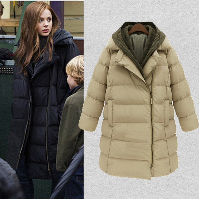 ФОТО 2016 Rushed Ukraine Autumn And Winter Korean New Women's Cotton Padded Thick Jacket Size Frock Coat In Mianfu Long Down