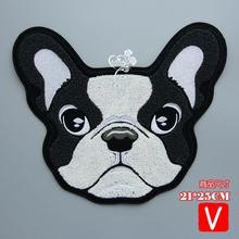 Embroidery big towel dogs patches for jackets,chenille badges jeans, animals applique A15