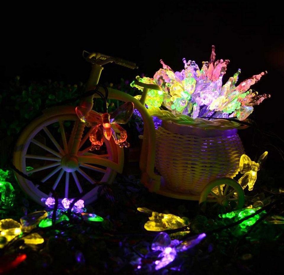 led christmas lights butterfly solar led lamp 20 30 led outdoor