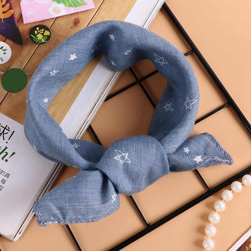 2018 nuevos bufandas para niños y niñas primavera otoño bebé estrella impresión niños algodón Lino bufanda niños neckerchief babero