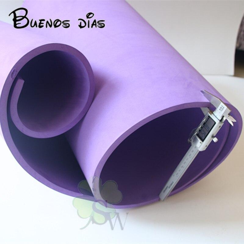Livraison gratuite 10mm épaisseur violet couleur Eva feuille de mousse, cosplay enfants école à la main matériel taille 50 cm * 200 cm