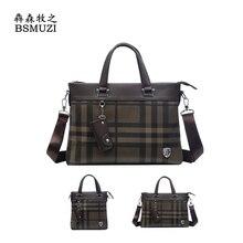 Brand Men's Leather Briefcase Men Messenger Bags Casual Business Men's Shoulder Laptop Bag England Style Men's Handbag 2 Sizes