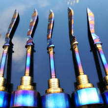 Rainbow Domeless Titanium nail 14mm 18mm Male Female&Carb Cap Dabber Grade 2 VS Ceramic Nails Quartz Glass water pipe Pong