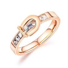купить 2019 Fashion Wedding Rose Gold Color Rings For Women Beautiful Pretty Cubic Zircon Ladies Rings Jewelry Accessories Wholesale по цене 289.18 рублей