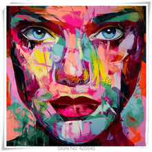 Palette knife painting portrait Francoise Nielly Hand painted Palette knife Face Oil painting Impasto figure on canvas Pop art 6