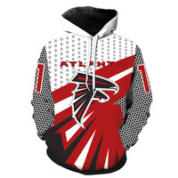 Unisex Punk Style Atlanta F Team Logo Casual Hoodie 3D Digital Print Pullover Hooded Sweatshirt Drop Shipping
