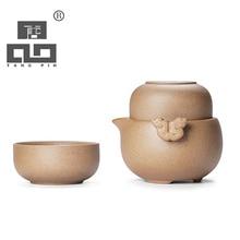 Drink Kaffee Tee Sätze Traditionelle Chinesische Kung Fu Tee-Set Keramik Teekanne Tee Tasse Tragbare Reise Tee-Set Gaiwan Teegeschirr